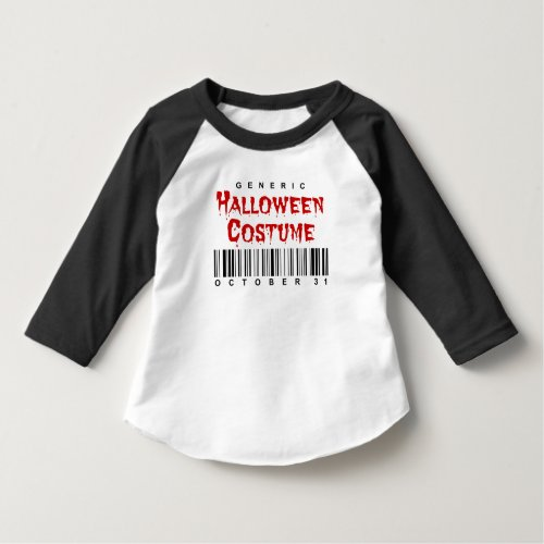 Barcode Generic Halloween Costume Toddler Raglan T-Shirt