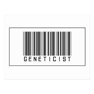 Barcode Geneticist Postcard
