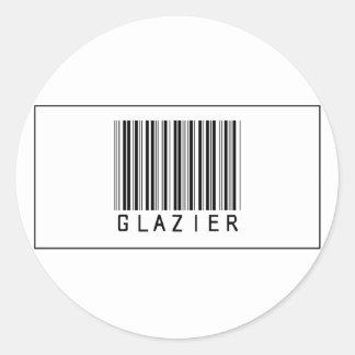 Barcode Glazier Classic Round Sticker