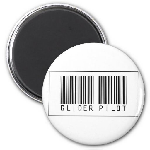 Barcode Glider Pilot Refrigerator Magnets