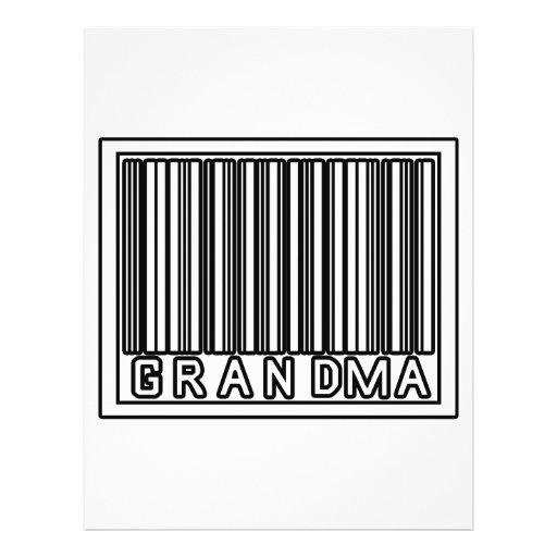 "Barcode Grandma 8.5"" X 11"" Flyer"