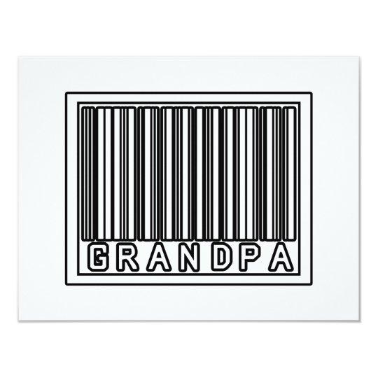 Barcode Grandpa Card