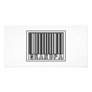 Barcode Grandpa Photo Greeting Card