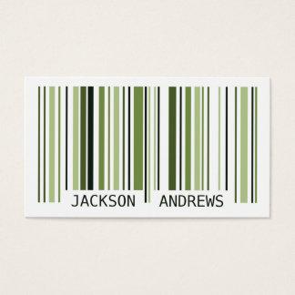 Barcode - Green Business Card