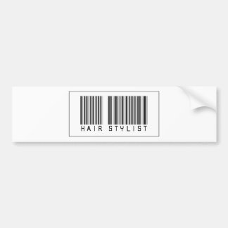 Barcode Hair Stylist Bumper Sticker