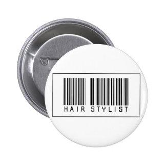 Barcode Hair Stylist Pinback Button