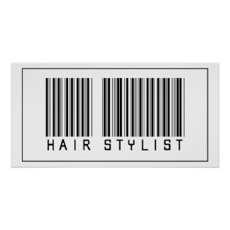 Barcode Hair Stylist Poster