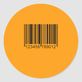 BARCODE - Halloween -.png Round Stickers