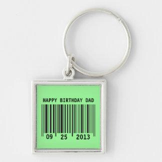Barcode Happy Birthday keychain