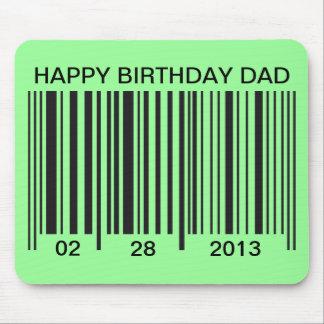 Barcode Happy Birthday mousepad