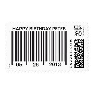Barcode Happy Birthday Postage