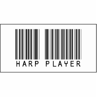 Barcode Harp Player Acrylic Cut Outs