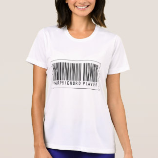 Barcode Harpsichord Player Tees