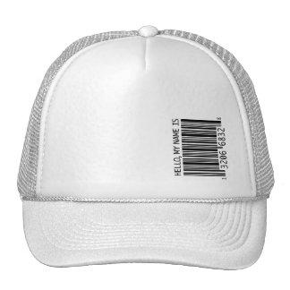 barcode trucker hat