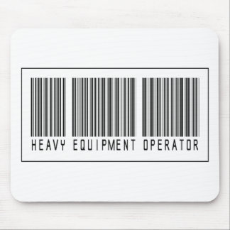 Barcode Heavy Equipment Operator Mousepad