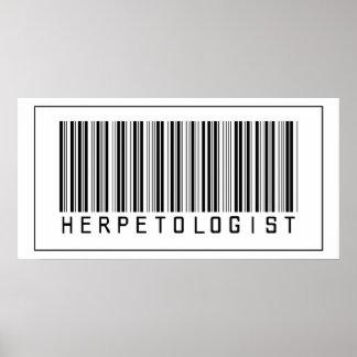Barcode Herpetologist Poster