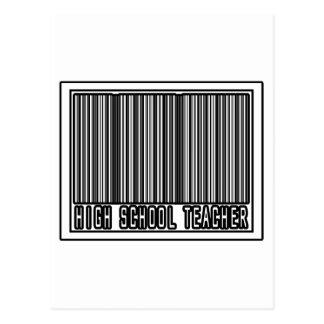 Barcode High School Teacher Postcard