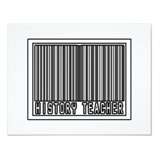 Barcode History Teacher Card