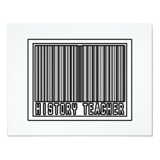 Barcode History Teacher 4.25x5.5 Paper Invitation Card