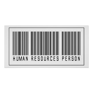 Barcode Human Resources Person Poster