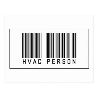 Barcode HVAC Person Postcard