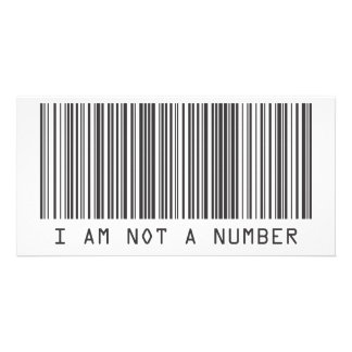 Barcode - I Am Not  A Number Card