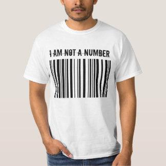 BARCODE, I AM NOT A NUMBER T-Shirt