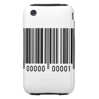Barcode Identification Tough iPhone 3 Case