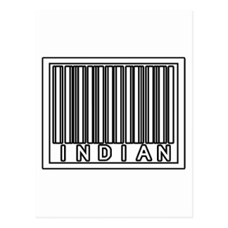 Barcode Indian Postcard