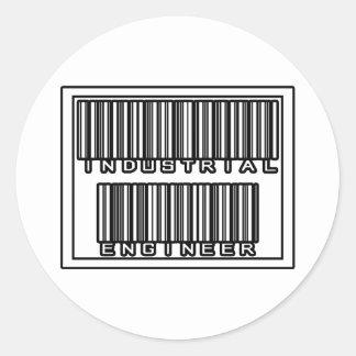 Barcode Industrial Engineer Classic Round Sticker