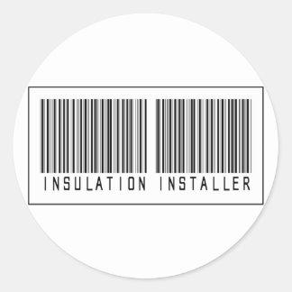 Barcode Insulation Installer Classic Round Sticker