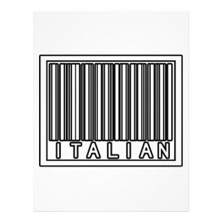 Barcode Italian Full Color Flyer