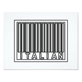 Barcode Italian 4.25x5.5 Paper Invitation Card