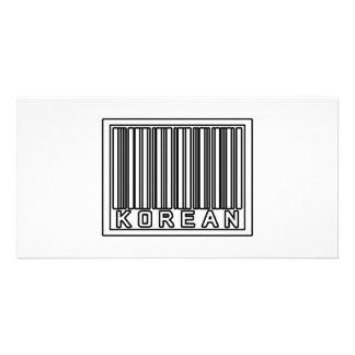Barcode Korean Personalized Photo Card