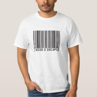 Barcode leetspeak - Need to Escape T-Shirt