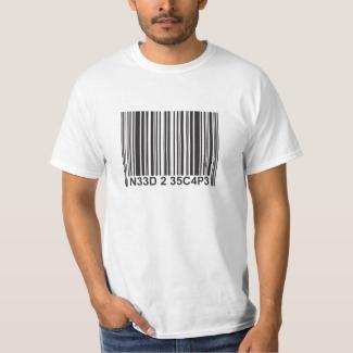 Barcode leetspeak - Need to Escape T-Shirt