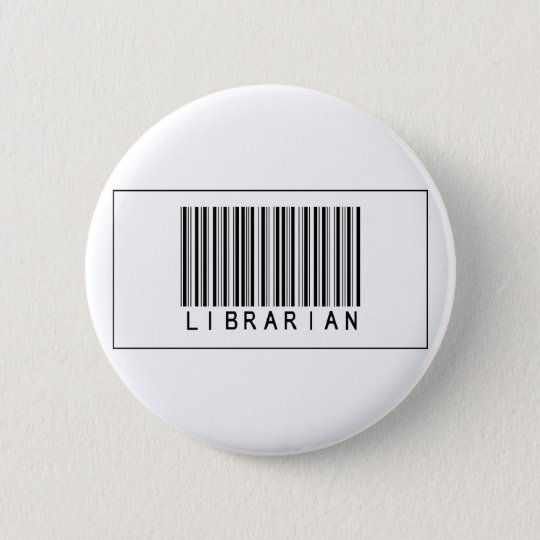 Barcode Librarian Pinback Button