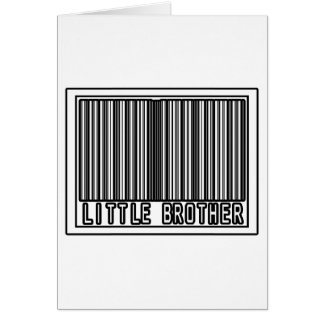Barcode Little Brother Greeting Cards