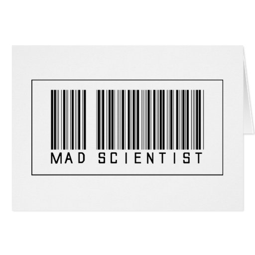 Barcode Mad Scientist Greeting Card