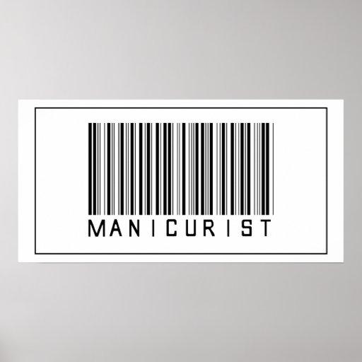 Barcode Manicurist Poster