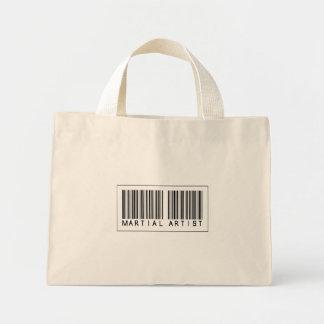 Barcode Martial Artist Canvas Bags