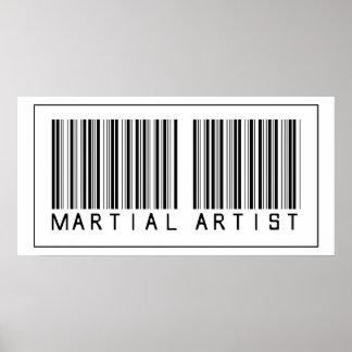 Barcode Martial Artist Poster