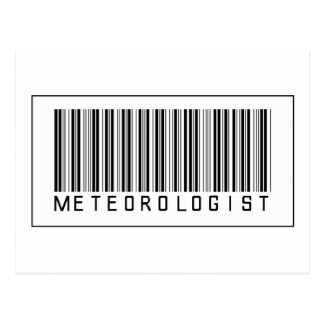 Barcode Meteorologist Postcard