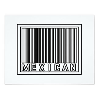 Barcode Mexican 4.25x5.5 Paper Invitation Card