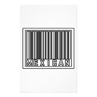 Barcode Mexican Custom Stationery