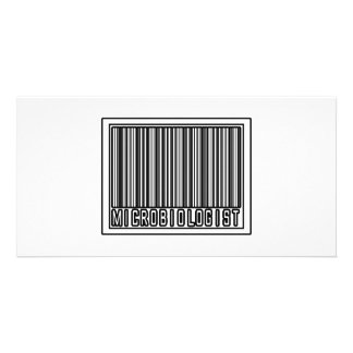 Barcode Microbiologist Picture Card