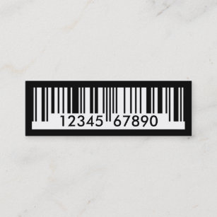 Barcode business cards zazzle barcode mini business card colourmoves
