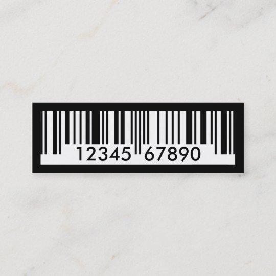 Barcode mini business card zazzle barcode mini business card colourmoves