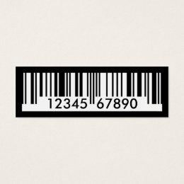 Barcode business cards templates zazzle barcode mini business card colourmoves