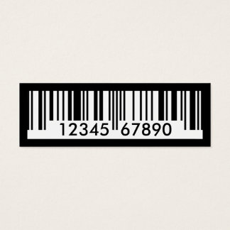 barcode mini business card